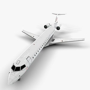 3D model r1 airlines bombardier crj