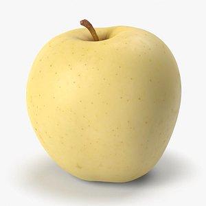 Yellow Apple PBR Scan Retopo 3D model