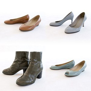 Female Shoes Collection 3D model