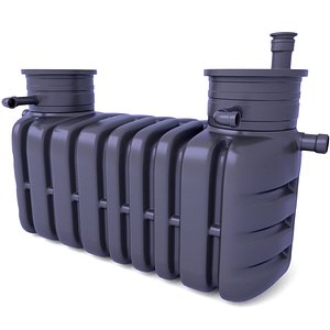 3D Domestic Sewage Treatment Plants Septic Tank 2 model