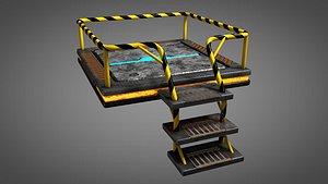 3D stage presentation platform model