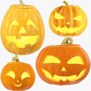 3D Halloween Pumpkins Family Collection V3 model