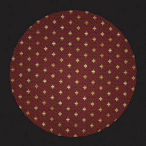 3D Medieval Round Tapestry Design Two