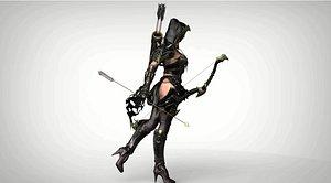 sculpt female warrior 3D