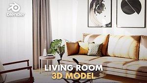 3D living sunny sun model