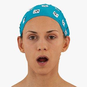 3D athena human head mouth