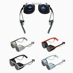 3D modern looking vr headset