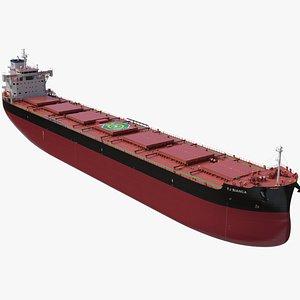 3D FJ Bianca Bulk Carrier model