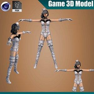 stylized girl pbr 3D model