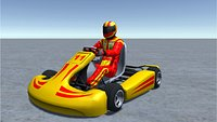 Low Poly Kart With Player - 2