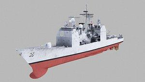 uss chosin cg-65 ticonderoga class 3D model