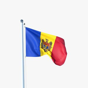 3D model Animated Flag of Moldova