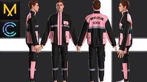 3D Outfit Male OBJ mtl FBX