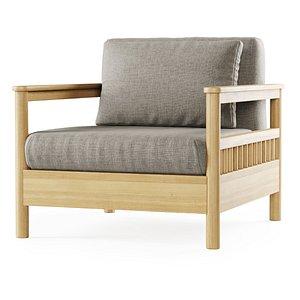 tribeca chair armchair 3D