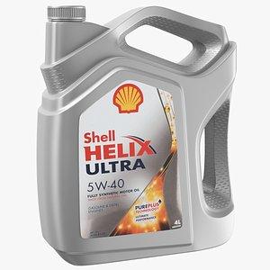 Shell Helix Oil Plastic Bottle 3D