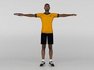 Male Tennis Player 3D model