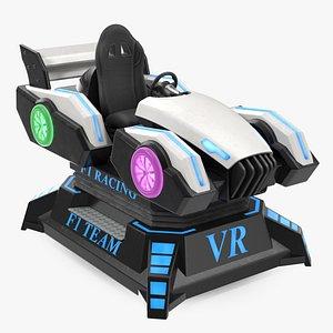 Virtual Reality Racing Game On 3D model