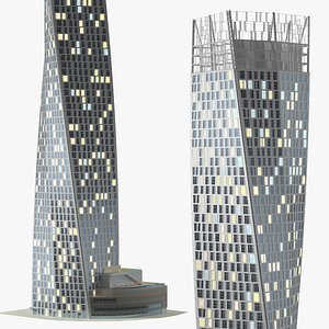 Twisted Skyscraper Night Glow 3D model