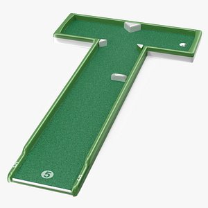Mini Golf Portable Outdoor Course Hole 5 3D model