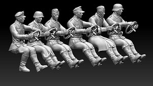 3D drivers soldiers ww2  german