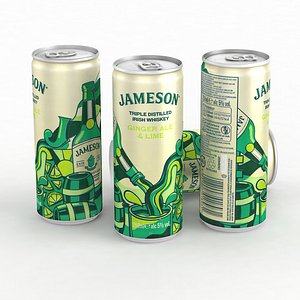 Alcohol Can Jameson Ginger Ale and Lime 250ml 2021 3D