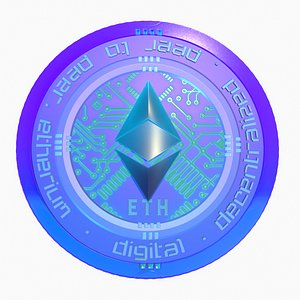 3D model Ethereum Cryptocurrency Coin