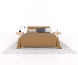 basket bedden loof 3D model