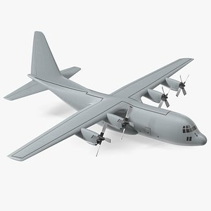 Turboprop Military Transport Aircraft Scale Model 3D model
