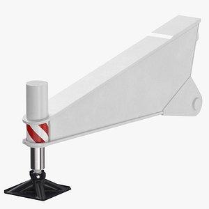 3D crane outrigger 03 white
