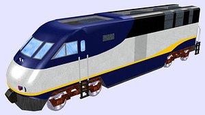 3D f59phi diesel locomotive model