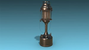 low-poly kerosene lamp 3D model