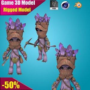 Farmer Cartoon 3D model