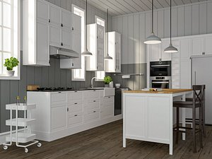 3D ikea sektion bodbyn kitchen model