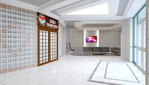 3D center hall lobby design