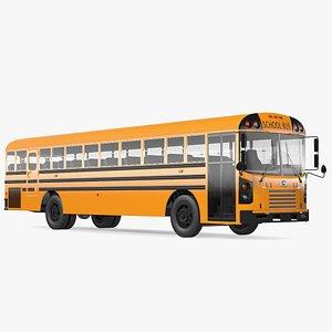 Blue Bird TX3 School Bus Rigged 3D model