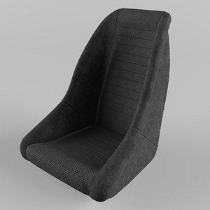 Retro Dune Buggy Suede Black Seat 3D model