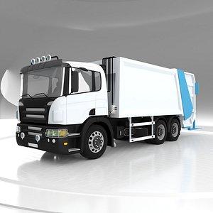 3D model Hydromotor Garbage Truck