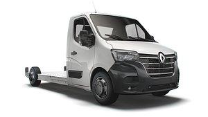 3D Renault Master FWD LL35 L3H1 Platform Cab 2021 model
