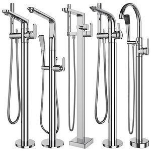 Free standing bath mixers Grohe and Ideal standard set 131 3D model