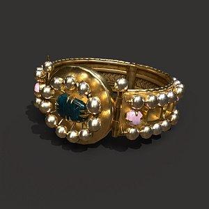 Medieval Elegant Ring 3D model