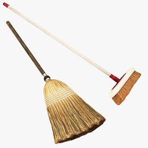 3D broom broomstick