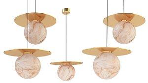 3D orb lampatron marble model
