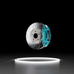 3D Project Mu FS6 caliper SCR-PRO PLUS rotor brake kit 3D model