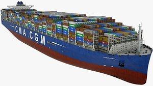 Container Ship CMA Remini 3D model
