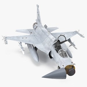 PAC JF-17 Thunder Pakistan Air Force with Armament 3D