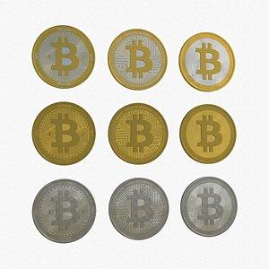 3D Bitcoin BTC - Cryptocurrency Coin