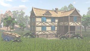 3D Fantasy house Scene