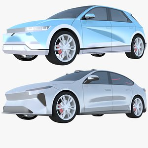 3D Electric cars exterior only model