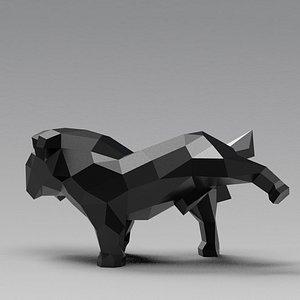 dog bulldog english 3D model