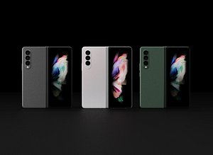 3D Samsung Galaxy Z Fold 3  in All Official Colors
